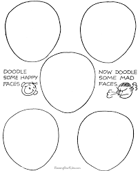 how to draw doodle faces printable how to doodle faces 075
