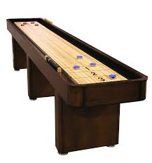 amazon com 12 signature shuffleboard table with butcher block amazon com 12 signature shuffleboard table with butcher block playfield chestnut home bars sports outdoors