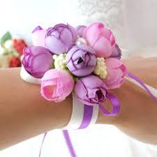 Prom Wrist Corsage 10pcs Dance Performance Wedding Prom Wrist Corsage Hand Flower
