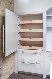 Cabinet Pull Out Shelves Kitchen Pantry Storage Pantry With Stacked Pull Out Shelves Transitional