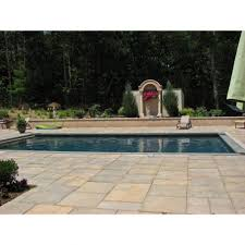 backyard patio pavers with pool and outdoor area and trees