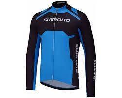 shimano thermal print long sleeve team cycling jersey shimano