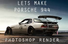 porsche 944 tuned porsche 944 virtual tuning photoshop render youtube