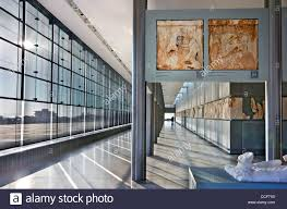 Parthenon Interior Inside View Of The New Acropolis Museum Part Of The Parthenon