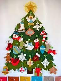diy advent calendar every day a new ornament for the felt tree