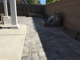 large patio pavers paver patio roman stone seating walls roman stone water feature