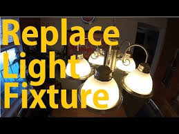 Replace Chandelier How To Install Light Fixture Replace Chandelier Youtube