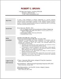 Sample Resume For Computer Programmer by Download Sample Resume With Objectives Haadyaooverbayresort Com