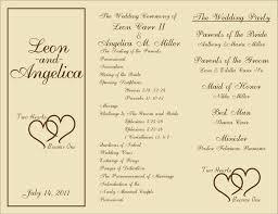 Wedding Program Templates Free Download 9 Best Images Of Free Printable Wedding Programs Free Printable