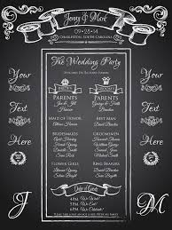 Wedding Program Chalkboard 10 Best Wedding Program Images On Pinterest Wedding Chalkboards