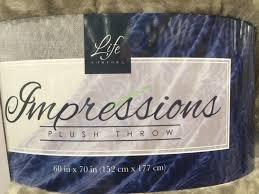 Life Comfort Blanket Costco Life Comfort Impressions Plush Throw 60 U201d X 70 U201d U2013 Costcochaser