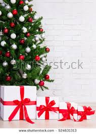 tree gifts on background stock photo 159540854