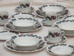 christmas dishes vintage libbey china dinnerware bows of christmas dishes
