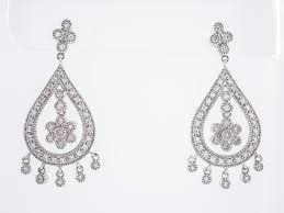 diamond dangle earrings modern antique style chandelier 1 08 diamond dangle earrings in