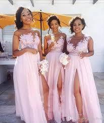 cheap bridesmaid dresses baby pink sheer neck cheap bridesmaid dresses 2017 vintage