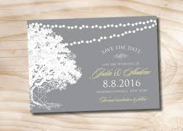digital save the date oak tree lights wedding save the date printable digital file