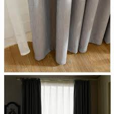 Hotel Drapes New Solid Twill Window Shade Thick Blackout Curtains For Living