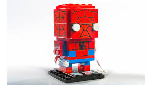 spider man and venom lego brickheadz swinging in to comic con