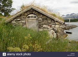 Traditional House Traditional House Made From Stones Grass On The Roof