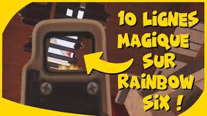 sur siege auto 10 ligne magique sur rainbow six siege