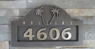home decor address home decor appealing address plaques for house plus tropical