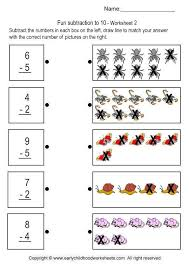 subtraction to 10 brain teaser worksheets 2