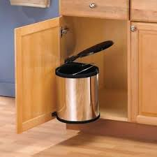 garbage can under the sink kitchen under sink in cabinet trash can lid waste container pivot