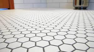 black and white octagon floor tile wood floors