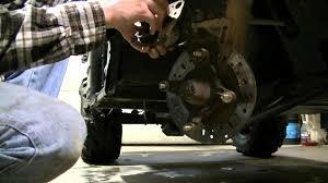 polaris ranger 500 replacing brake pads part 1 of 3 youtube