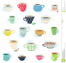 cute coffee mugs clip art tea and coffee cup collection stock vector image 51145165