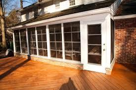enclosed deck designs this veranda is partially enclosed on the