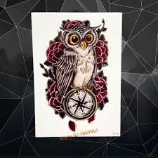 compare prices on owl tattoo chest online shopping buy low price