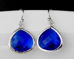 blue earrings cobalt blue earrings blue drop earring bridesmaid blue earring