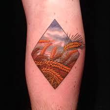 field of wheat by melissa baker at fat ram u0027s pumpkin tattoo