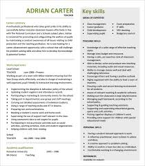 Sample Of Key Skills In Resume by 51 Teacher Resume Templates U2013 Free Sample Example Format