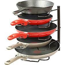 Kitchen Cabinet Pot Organizer Amazon Com Lifewit Height Adjustable Pan Pot Organizer Rack 5