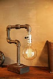 Filament Bulb Desk Lamp 35 Industrial Lighting Ideas For Your Home