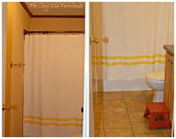 Diy Bathroom Curtains The Cozy Old