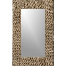 rattan wall mirror crate and barrel