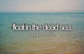 Bucketlist  Float in the Dead Sea ficial Bucket List