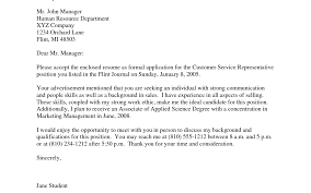 Cover Letter Samples For Customer Service Representative Sales Representative Cover Letter Gallery Cover Letter Ideas