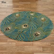 Round Patio Rugs by Peacock Feathers Area Rugs