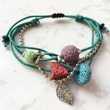bracelet stone beads images Lava stone beads women bracelet hemp rope bangles men bracelets jpg