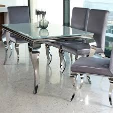 chrome dining room chairs dining table glass and chrome dining table chairs round legs base