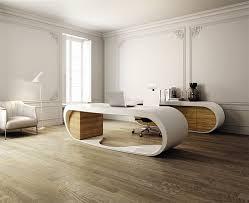 Designer Office Desks Ultra Modern Goggle Office Desks Rounded Shapes Design Ideas