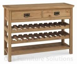 Oak Console Table With Drawers Console Table With Wine Rack Foter