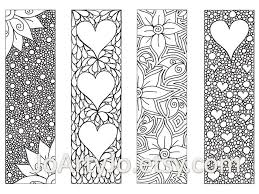 valentine u0027s bookmarks print color zentangle