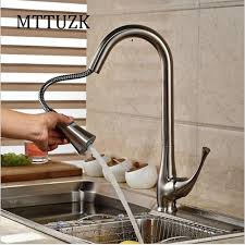 wholesale kitchen faucet bubbed brushed nickel chrome pull kitchen faucet