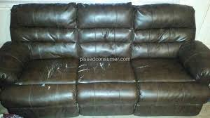 Ashley Furniture Leather Loveseat Ashley Furniture Durablend Bonded Leather Reclining Sofa