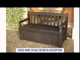 Keter Bench Storage Garden Bench Under Storage Keter 140cm Resin Patio Furniture 265l